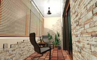 Отделка балкона декоративным камнем: облицовка стен искусственным камнем на лоджии, фото