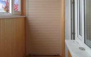 Шкаф с рольставнями на балкон: своими руками балконный шкаф на лоджию, как сделать, видео
