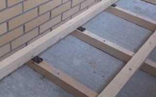 Как поднять пол на балконе: меняем уровень своими руками, цементная и сухая стяжка, лаги, фото и видео