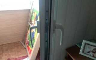 Двухсторонняя ручка на балконную дверь: порядок установки