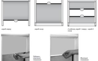 Механизм рулонных штор: варианты устройства