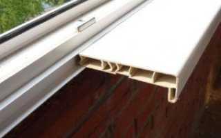 Установка подоконника на балконе к пластиковому окну своими руками