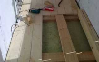 Пол на лагах на балконе: правила монтажа