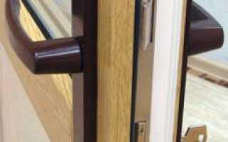 Замок на пластиковую балконную дверь: как врезать и поменять