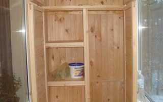 Шкаф на лоджию своими руками: как сделать угловой, встроенный самому