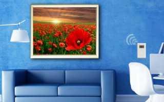 Инфракрасный обогреватель настенный: картина, пленочный на стену для балкона и лоджии