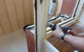 Установка балконной двери с окном своими руками