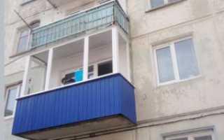 Обшивка балкона профлистом снаружи своими руками