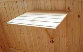 Откидной столик на балкон: как сделать стол своими руками на лоджию, фото