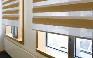 Рулонные шторы День-Ночь (Зебра): светофильтры на окна, монтаж, фото