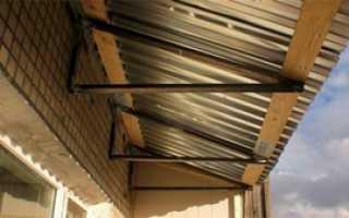 Как сделать крышу на балконе: своими руками, на последнем этаже, материалы, фото