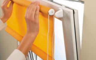 Как снять рулонные шторы с пластикового окна