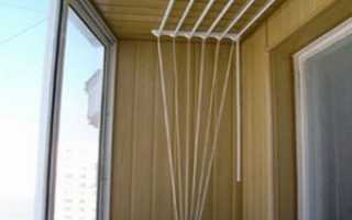 Лиана для сушки белья: как установить бельевую сушилку на балкон, инструкция, фото, видео