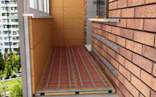 Как сделать теплый пол на балконе своими руками. Инфракрасный, электрический, водяной теплый пол