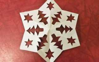 Киригами новогодние: схемы, шаблоны на окна к Новому Году