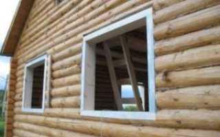 Обсада и окосячка окон в деревянном доме: как сделать окосячку, монтаж.