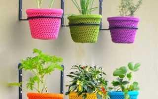 Горшки для балкона: декор цветочных горшков своими руками, фото