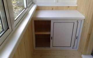 Шкафчик на балкон: угловой, встроенный, из пластика, своими руками, фото