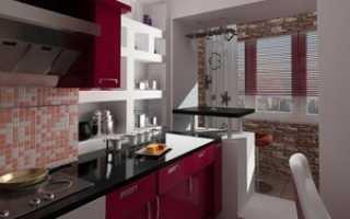 Дизайн кухни совмещённой с балконом: объединенная с лоджией, варианты интерьера, фото