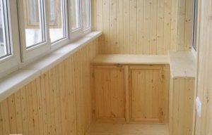 Балкон из вагонки