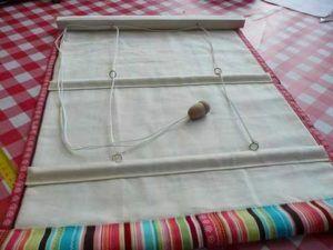 рулонная штора шитье