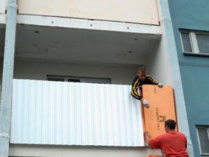 утепление балкона парапет