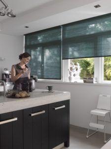 рулонные шторы кухня