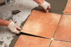 Укладка плиточного покрытия
