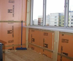 Утепление пеноплексом балкона и лоджии