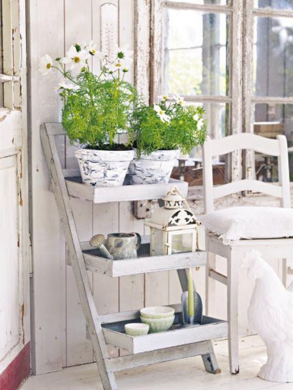 деревянные полки для цветов