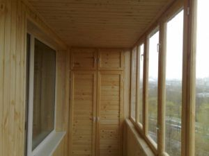 балкон древесина
