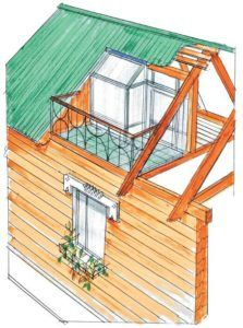 балкон на мансарде