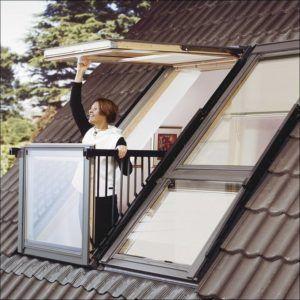 балкон в крыше