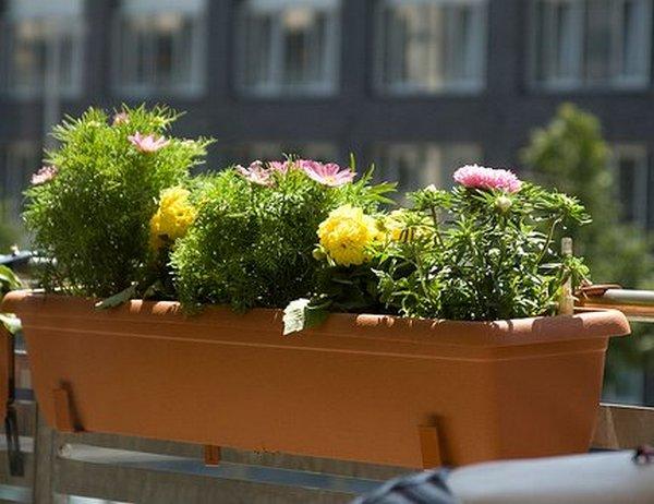 Пластиковый балконный ящик