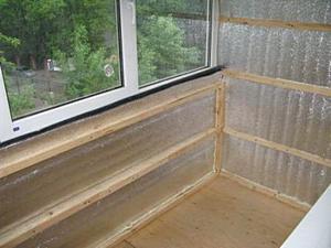 Чем утеплить балкон