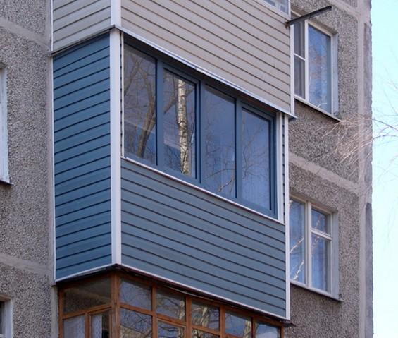 как монтировать сайдинг на балконе