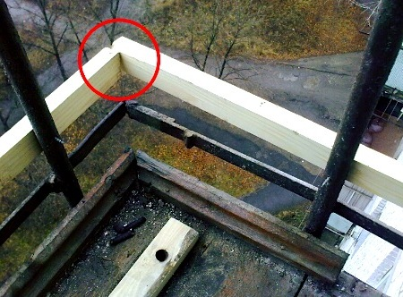 как обшить балкон профнастилом