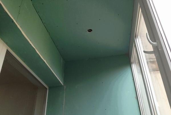 обшивка балкона гипсокартоном