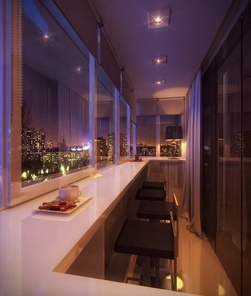 барная стойка на балконе