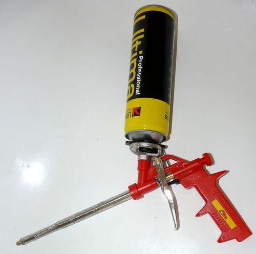 как почистить пистолет для монтажной пены