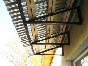 независимая крыша балкона