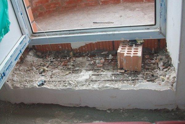 порог на балконную дверь