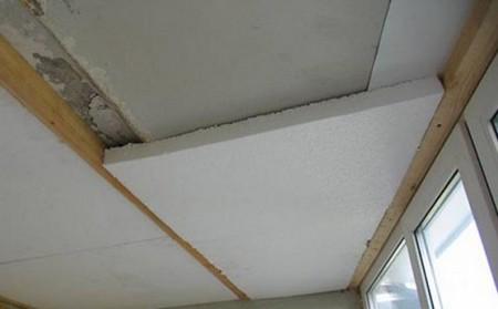 как утеплить потолок на лоджии