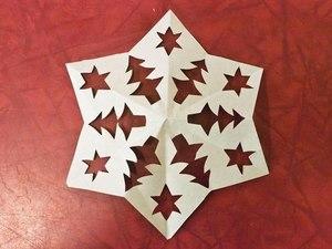 киригами новогодние схемы