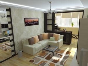 Дизайн лоджии совмещенной с комнатой