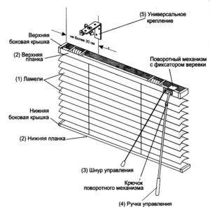 схема строения жалюзи