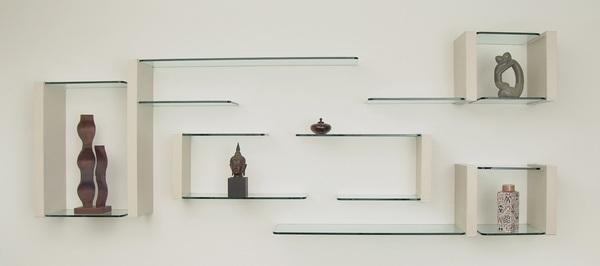 красивые полки на стену из стекла