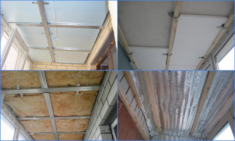 обрешетка балконного потолка