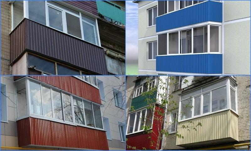 профнастил на балконе