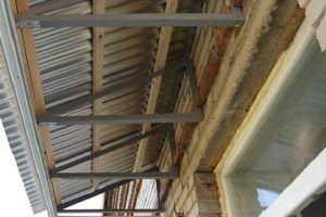 Ообрешетка крыши балкона